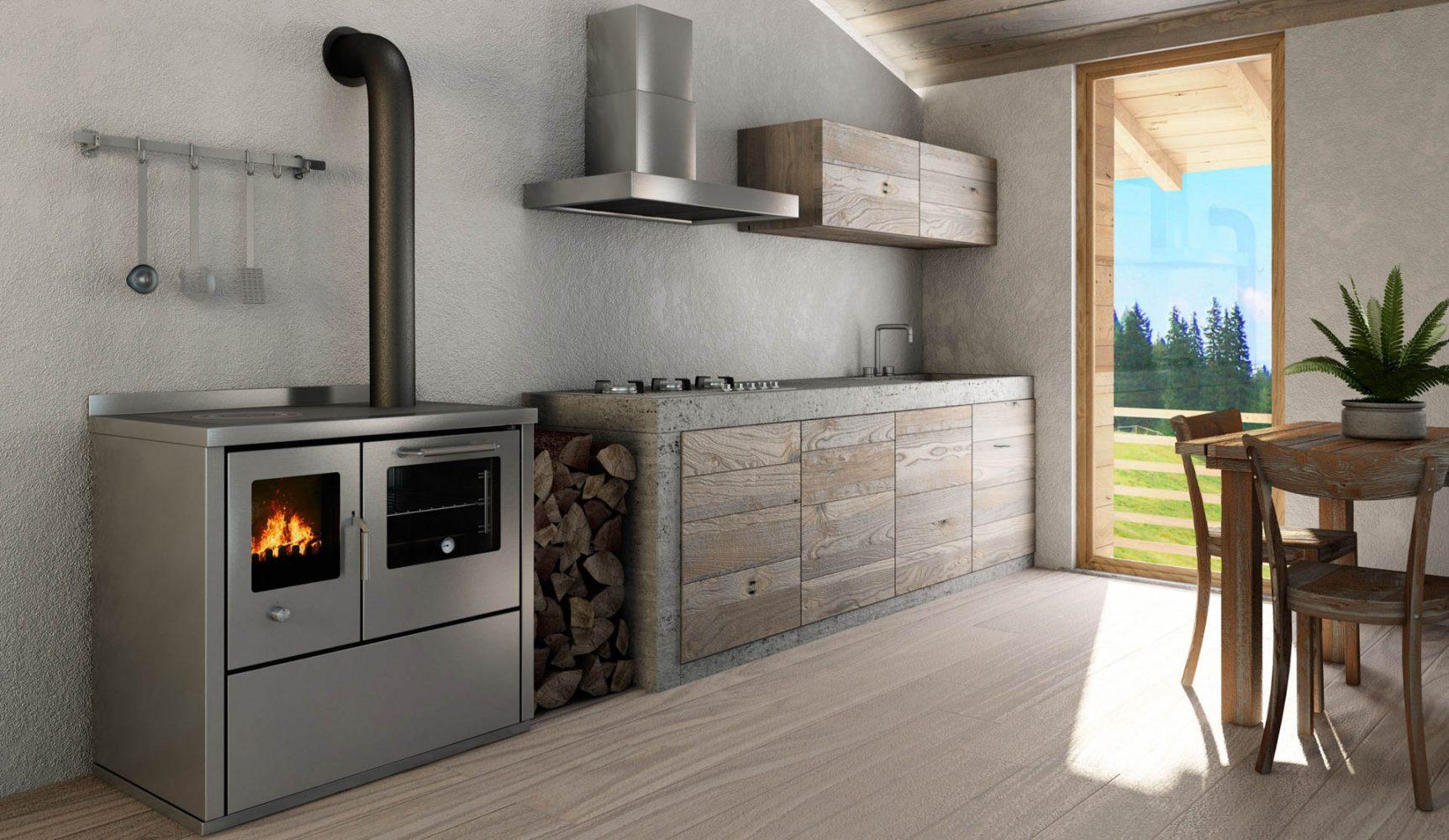 Cucina economica a legna Pertinger Okoalpin | Camini e stufe ...